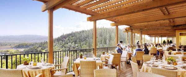 Auberge Restaurant Patio in Napa Valley