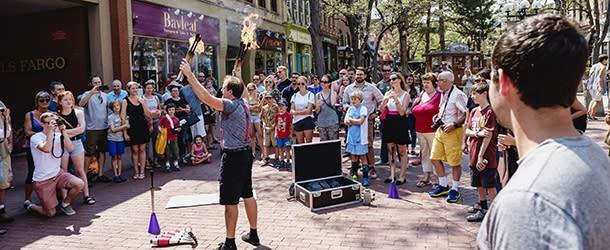 Pearl Street Performer Boulder