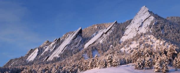 Winter Flatirons Boulder