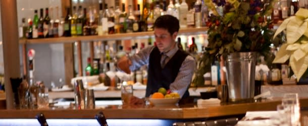 Bartender Serving Drinks at Oak at Fourteenth