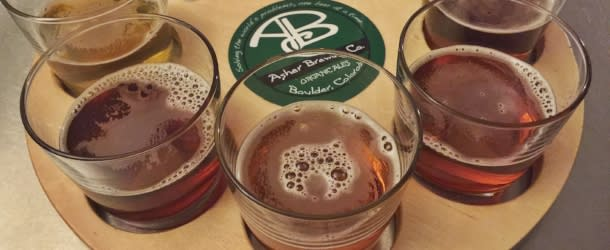 FLight of Beer at Asher Brewing Co in Boulder