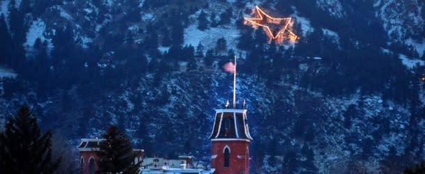 Flagstaff Star on mountain side