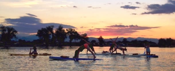 Rocky Mountain Paddleboarding Yoga