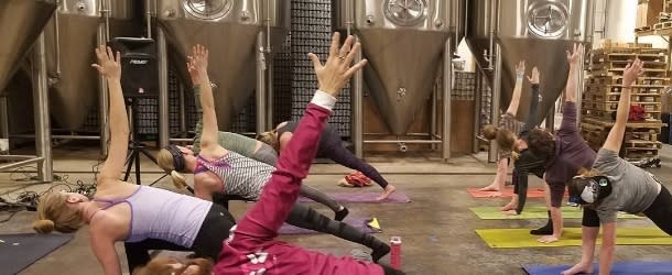 All Terrain Yoga Brewhouse Yoga at Sanitas Brewing