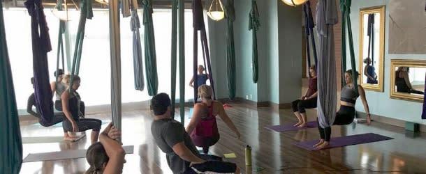Aerial Yoga at Yoga Hive