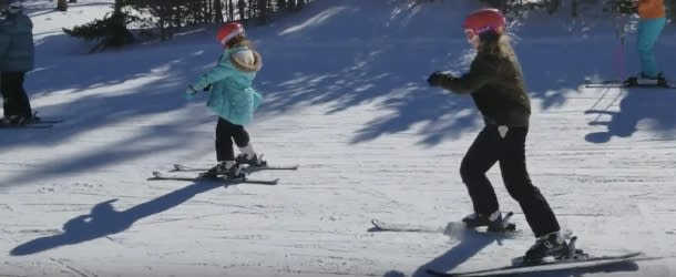 Kids skiiing on Eldora