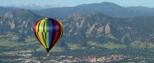 Hot Air Balloon over Boulder