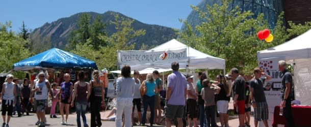 People and Vendors at the Boulder Creek Festival