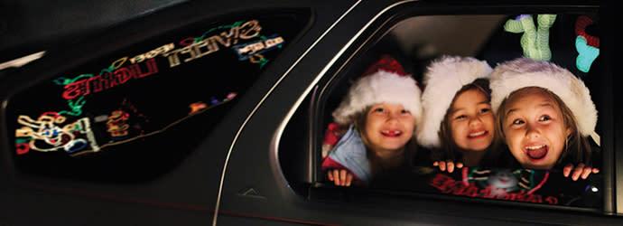 Children enjoying the Hershey's Sweet Lights Display