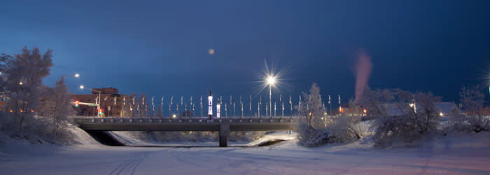 Downtown Fairbanks - Winter Solstice