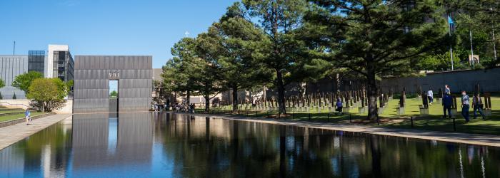 Outdoor symbolic memorials at the Oklahoma City National Memorial & Museum