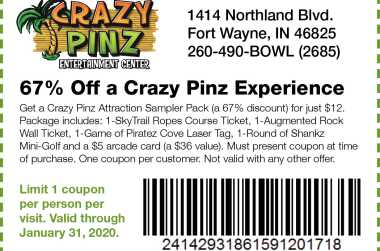 photo about Crazy 8 Coupons Printable named System Your Getaway Toward Fort Wayne Check out Fort Wayne