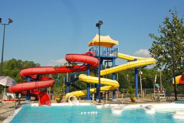Gill Family Aquatic Center waterslides