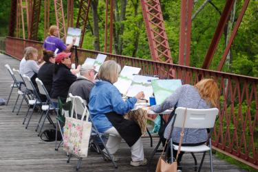 Plein Air Painting at McCloud Nature Park.