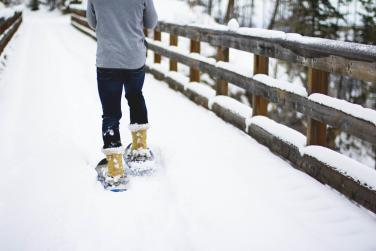 Snowshoeing at Myra Canyon Trestles