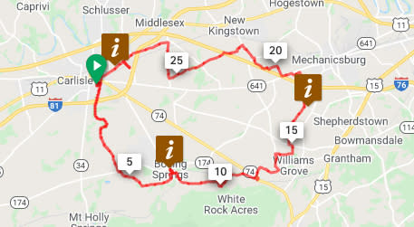 Carlisle to Boiling Springs Loop
