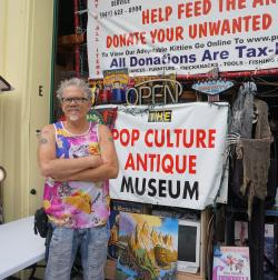"Rick ""The Catman"" Kingston at his Pop Culture Antique Museum"