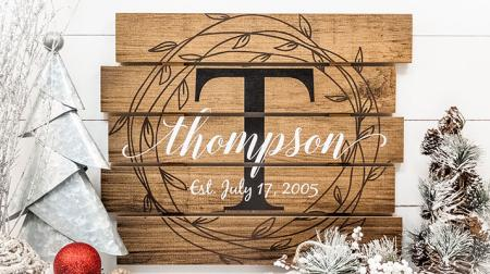 MRC Wood Products Personalized Name Sign