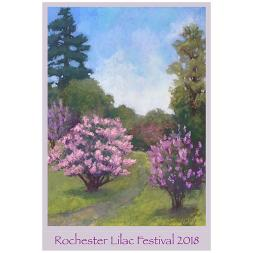 2018 Rochester Lilac Festival Poster Katheryn Bevier
