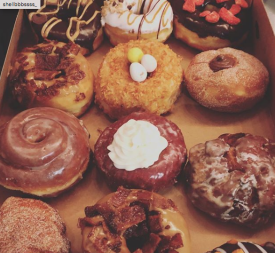 Babe's Doughnuts and Coffee Shop donut box