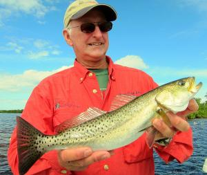 Capt. Ralph Allen with Seatrout