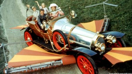 Chitty Chitty Bang Bang car with people PCFF