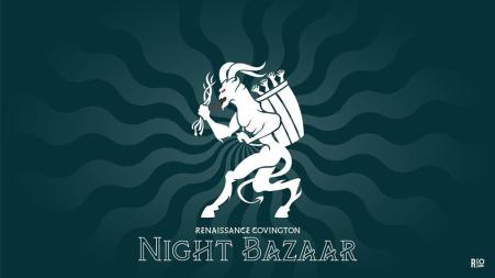 promo graphic for covington night bazaar