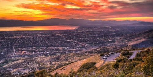 sunset from squaw peak lookout point