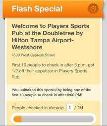 Check-In Specials