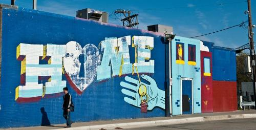 Home Mural in Chicago by Nick Adam and Thor Goodlife