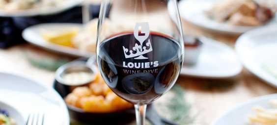 Louie's Wine Dive wine