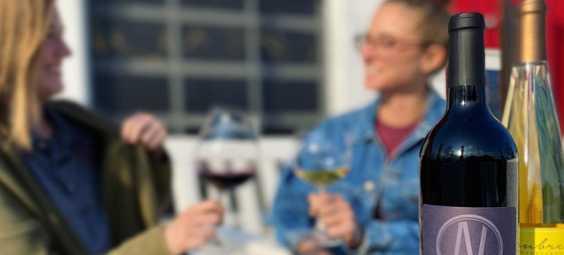 wine at aubrey vineyards