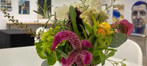 interurban arthouse flowers in studio