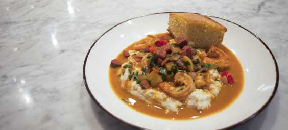 Shrimp and Grits Meal Overland Park Brass Onion
