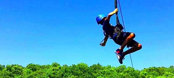 Zip KC Ziplining Kid
