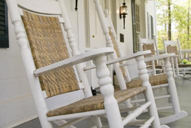 Stately Oaks Plantation - front porch