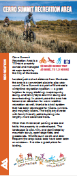 Cerro Summit Recreation Area brochure