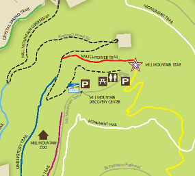 Mill Mountain Park Map Roanoke