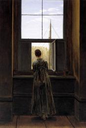 Caspar David Friedrich (German, 1774–1840). Woman at the Window, 1822. Staatliche Museen zu Berlin, Alte Nationalgalerie