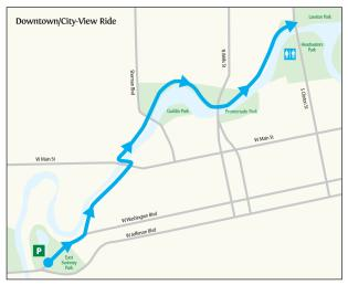City View Trail Ride Itinerary