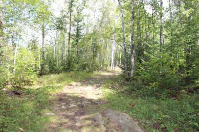 Hiking trail to High Lake Eco Cabins