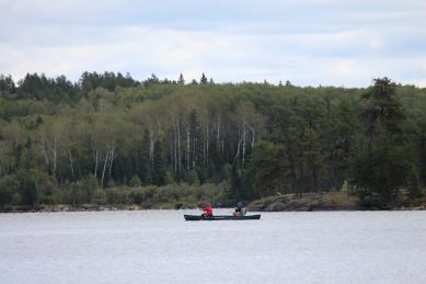 Paddling on High Lake in Whitshell Provincial Park