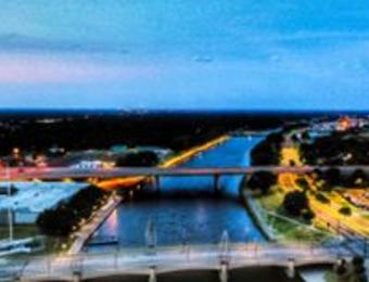 Drone-tography Arkansas River Visit Wichita