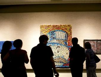 People admire exhibit