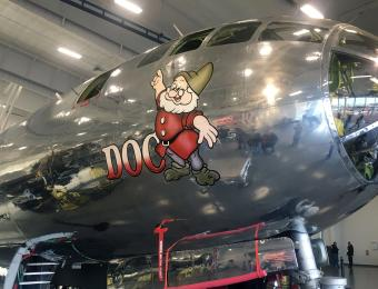 B-29 Doc Dwarf Doc Visit Wichita
