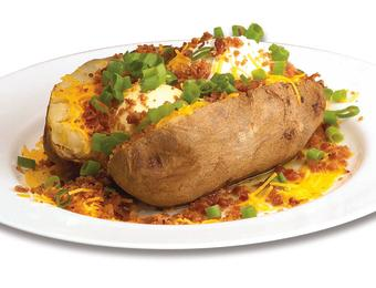 Hog Wild baked potato Visit Wichita