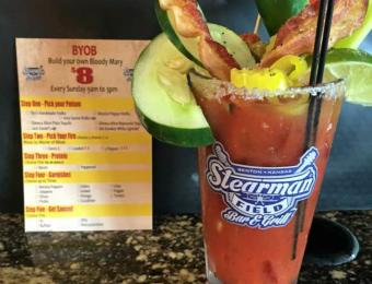 Stearmen Bar/Grill Bloody Mary Visit Wichita