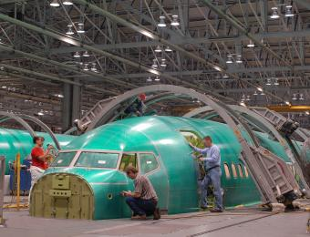Spirit AeroSystems_B737 Production Line
