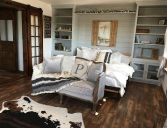 Prairie Hill cabin bedroom