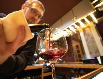 Cafe Bel Ami Wine Pour